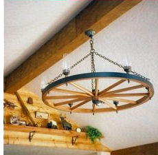 Phillipis Wagon Wheel Chandelier